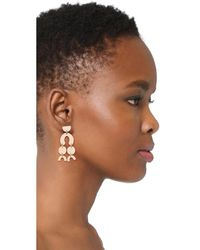 Shashi - Metallic Aliyah Earrings - Lyst