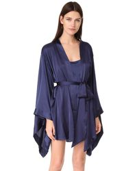 Nudwear | Blue Strawberries & Champagne Short Kimono | Lyst