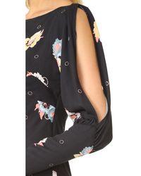 Free People - Black Sunshadow Mini Dress - Lyst