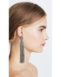 Oscar de la Renta Metallic Classic Long Tassel Earrings
