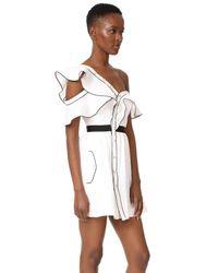 Self-Portrait White Frill Dress