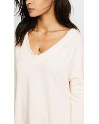 Free People White No Frills Pullover
