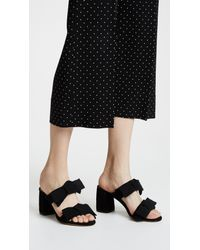 Tabitha Simmons Black Barbi Mule Pumps
