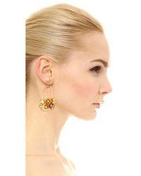 Lizzie Fortunato - Metallic Cherry Blossom Earrings - Lyst
