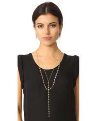 Serefina - Metallic Layered Y Necklace - Lyst
