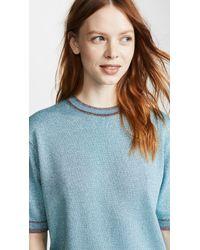 Marc Jacobs Blue Metallic Crew Neck Sweater