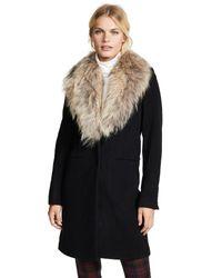 Sam. Black Crosby Wool Coat