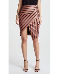 Michelle Mason Multicolor Peplum Skirt