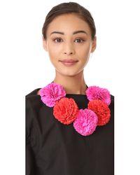 Kate Spade - Pink Fiesta Floral Statement Necklace - Lyst