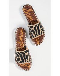 Sam Edelman Multicolor Gunner Slide Sandals