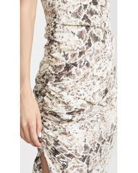 Nicholas Brown Triangle Top Slip Dress