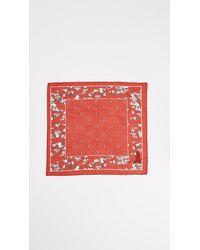Rag & Bone - Red Garden Floral Bandana - Lyst