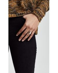 Shashi - Metallic Bold Love Ring - Lyst