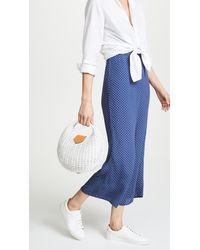 Kayu White Elena Wicker Bag