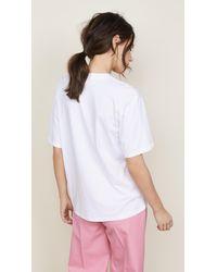 Victoria, Victoria Beckham - White Flamingo Tee - Lyst
