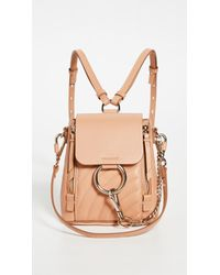 What Goes Around Comes Around Natural Chloe Beige Leather Faye Mini Backpack