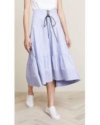 3.1 Phillip Lim Blue Victorian Waist Skirt