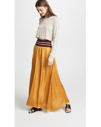 Scotch & Soda Multicolor Maxi Skirt With Elastic Waist