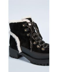 Tory Burch Black Cooper Shearling Booties