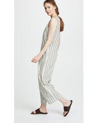 Madewell Multicolor Stripe Apron Tie Jumpsuit