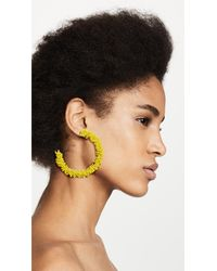 BaubleBar - Multicolor Large Beaded Hoop Earrings - Lyst