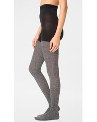 Spanx   Gray Cozy Cable Knit Tights   Lyst