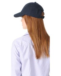 Hat Attack - Blue Canvas Dad Cap - Lyst
