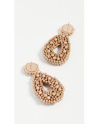 BaubleBar - Metallic Fully Beaded Oval Earrings - Lyst