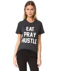 Private Party Gray Eat Pray Hustle Tee