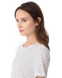 Jennifer Behr Black Thin Leather Headband