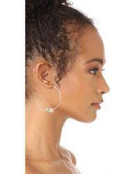 Justine Clenquet - Metallic Ivy Earrings - Lyst