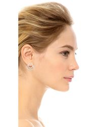 Kenneth Jay Lane - Metallic Coiled Infinity Pave Earrings - Lyst