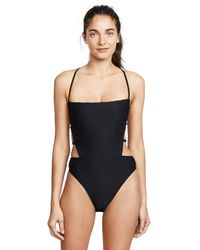 MILLY - Black Wave Jacquard One Piece - Lyst