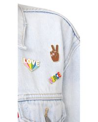Georgia Perry - Brown Peace Hand Lapel Pin - Lyst