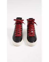Frye Black Lena Hiker Sneakers