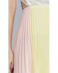 Loyd/Ford Yellow Pleated Two Tone Skirt
