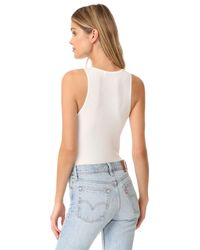 Getting Back to Square One | Multicolor Button Front Bodysuit | Lyst
