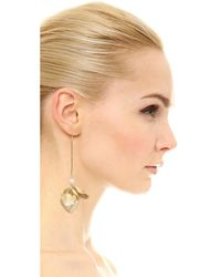 Elizabeth and James - Metallic Posy Earrings - Lyst