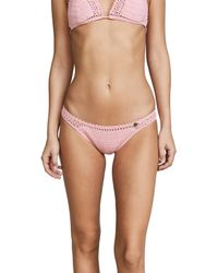 She Made Me - Multicolor Essential Cotton Crochet Cheeky Bikini Bottoms - Lyst