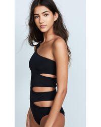 OYE Swimwear - Black Delphine One Shoulder Swimsuit - Lyst