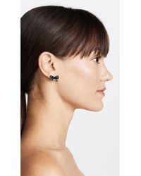 Marc Jacobs - Multicolor Pave Bow Studs - Lyst