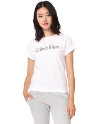 Calvin Klein - White Short Sleeve Crew Tee - Lyst