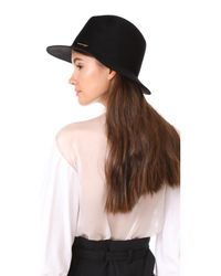 Janessa Leone - Black Lane Fedora Hat - Lyst