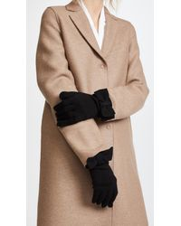 Kate Spade - Black Half Bow Gloves - Lyst