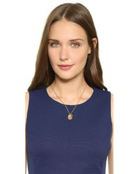"""Kate Spade Metallic Clover """"one In A Million"""" Charm Necklace"""