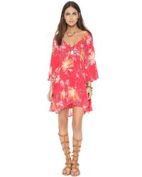 Free People Multicolor Eyes On You Mini Dress - Navy Combo
