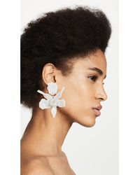 Lele Sadoughi - White Crystal Lily Earrings - Lyst