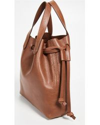 Madewell Brown Mini Pocket Transport Tote Drawcord