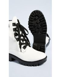 Kendall + Kylie - White East Hiker Boots - Lyst