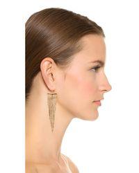 Kenneth Jay Lane - Metallic Polished Fringe Earrings - Lyst